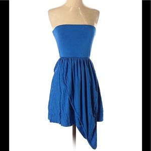 RACHEL PALLY XS Strapless High-Low Blue Dress